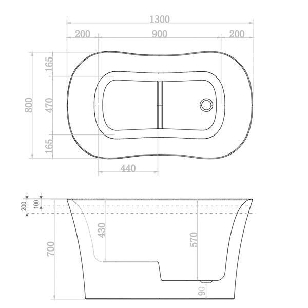 Small Bathtubs 1300mm Decina Furo 1300mm Freestanding Bath Best Price the