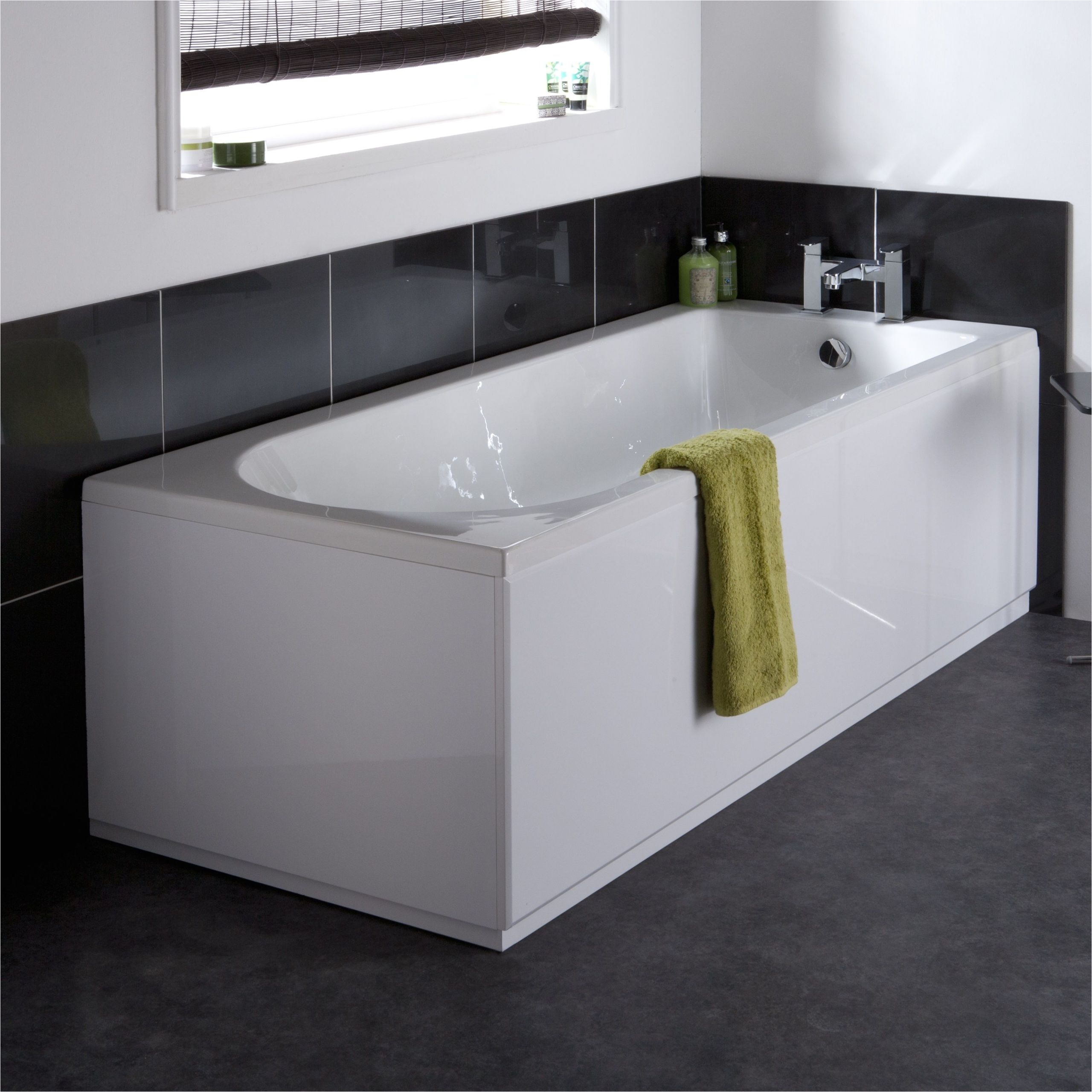 premier 1600mm high gloss white mdf front bath panel bpr103