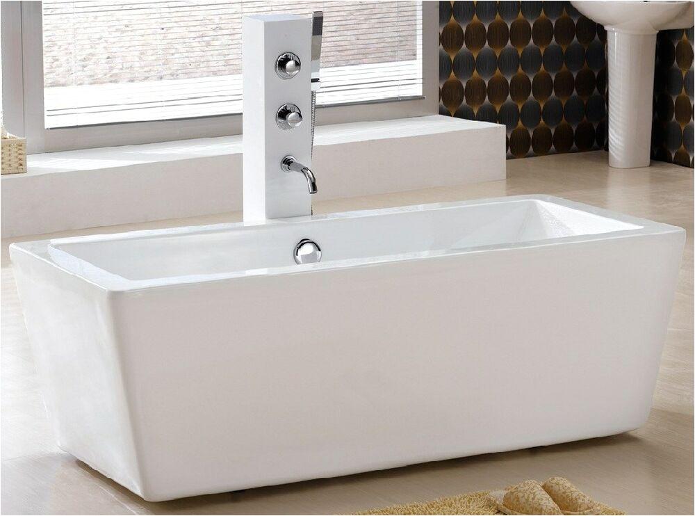 Small Clawfoot Bathtubs Am2059 59 Inch Free Standing Bathtub & Faucet Bath Tub