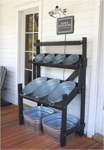 Small Display Bathtubs 20 Creative Ways to Repurpose Galvanized Buckets and Tubs