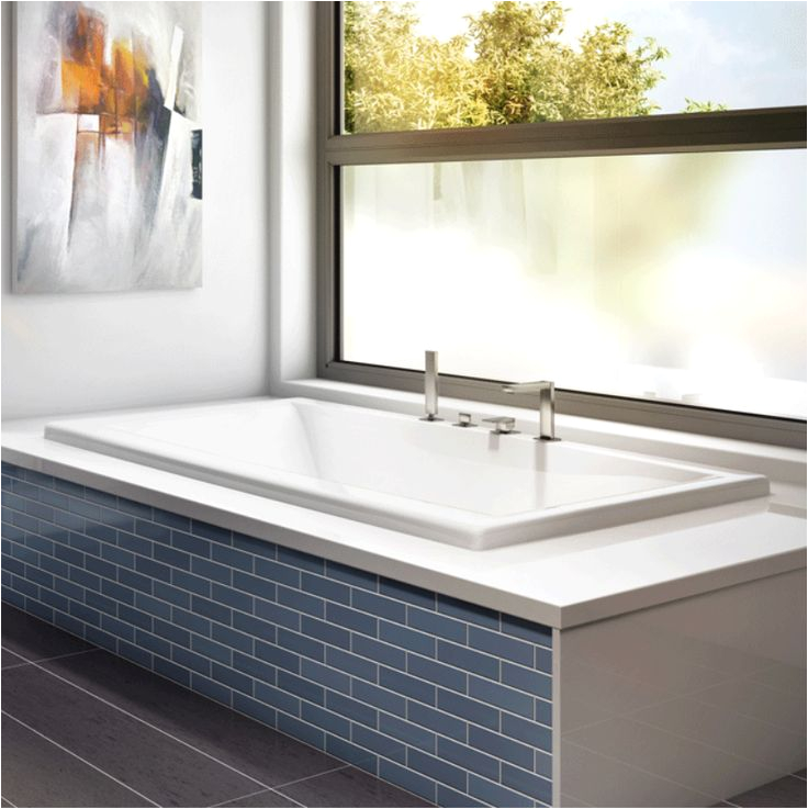 Small Rectangular Bathtubs Modern Rectangular Bathtub by Produits Neptune Jade