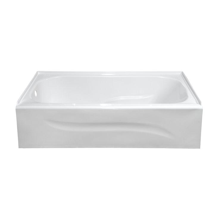 Small Rectangular Bathtubs Style Selections White Acrylic Rectangular Skirted Bathtub