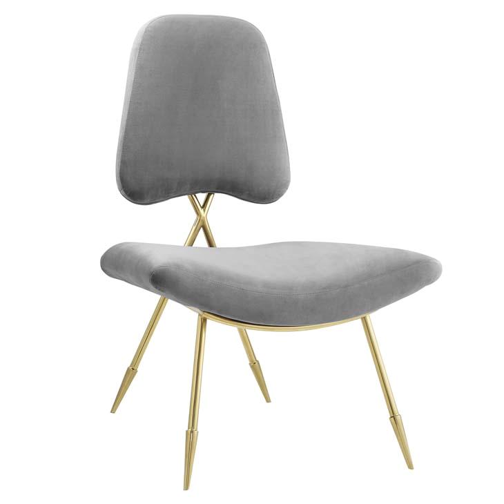 stratus gold velvet accent chair