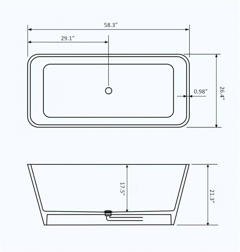 creative bathtub dimensions design for bathroom plans ideas
