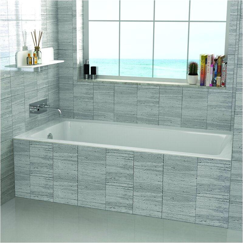 "Soaking Bathtubs Best Rated Fine Fixtures 48"" X 32"" Drop In soaking Bathtub & Reviews"