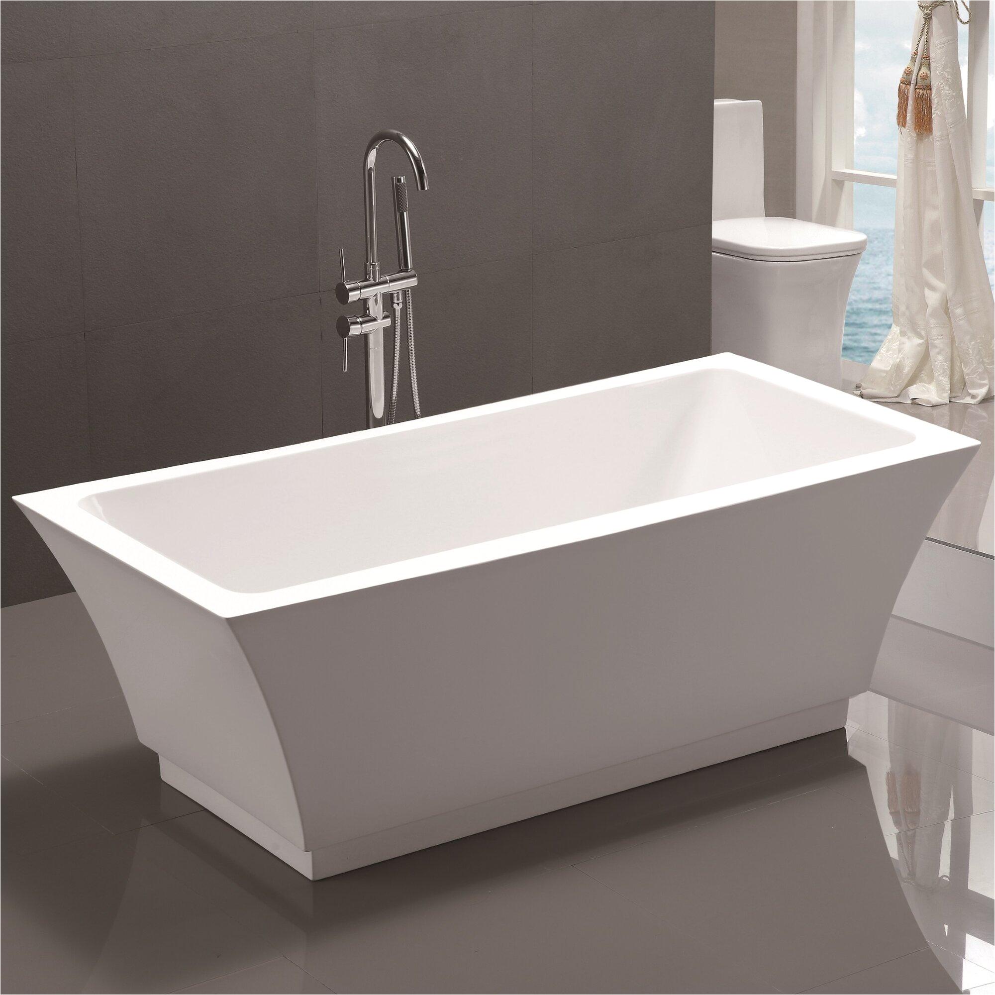 Vanity Art 59 x 29 5 Freestanding Soaking Bathtub VNAR1018