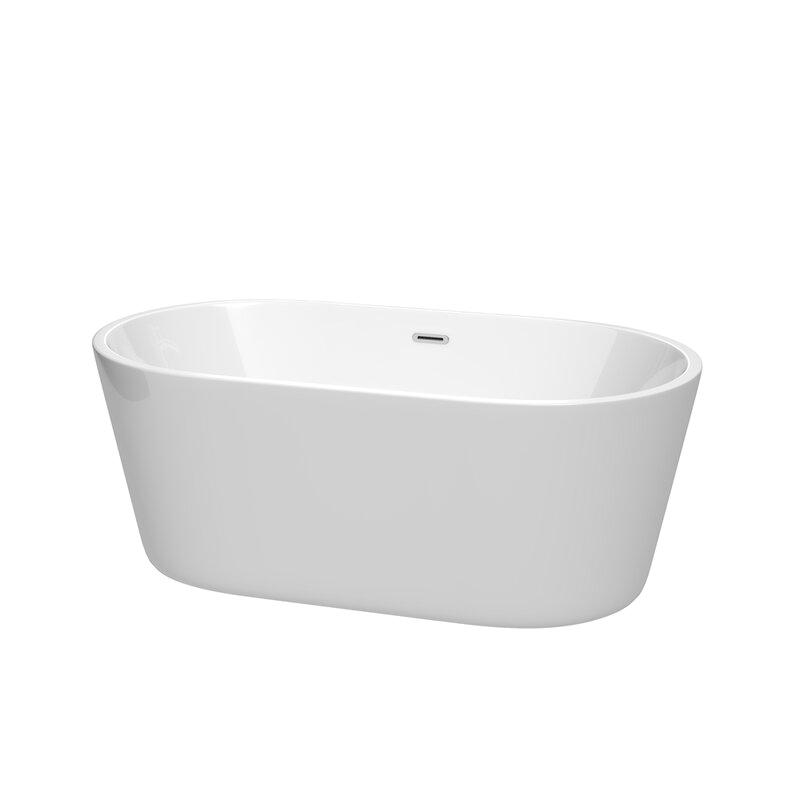 wyndham collection carissa 60 x 32 freestanding soaking bathtub wdx4254