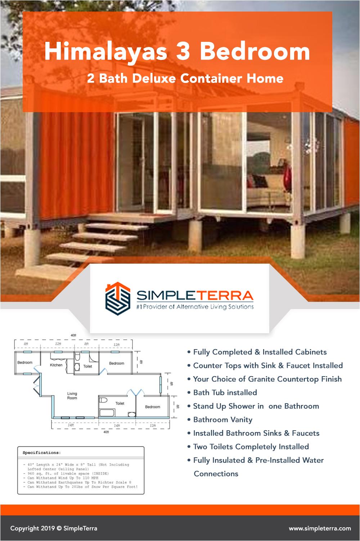3 bedroom 2 bath deluxe container home