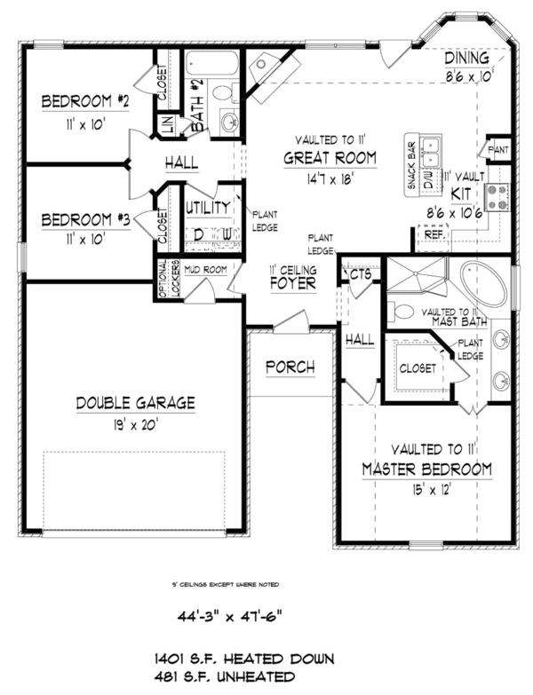 1882 square feet 3 bedroom 2 bathroom 2 garage traditional
