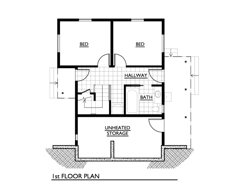 1000 square feet 2 bedroom 1 bathroom 0 garage modern