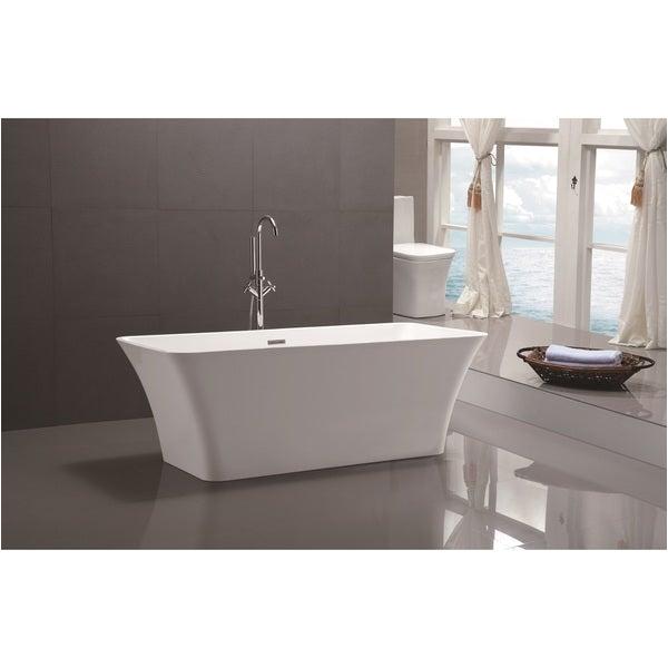 "Stand Alone Acrylic Bathtubs Shop Vanity Art 67"" Freestanding Acrylic Bathtub Modern"