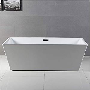 Stand Alone soaking Bathtubs Ferdy 59 Acrylic Freestanding Bathtub White Modern