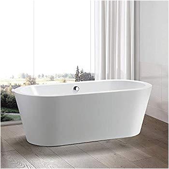Standalone Acrylic Bathtub Vanity Art 67 Inch Free Standing White Acrylic Bathtub