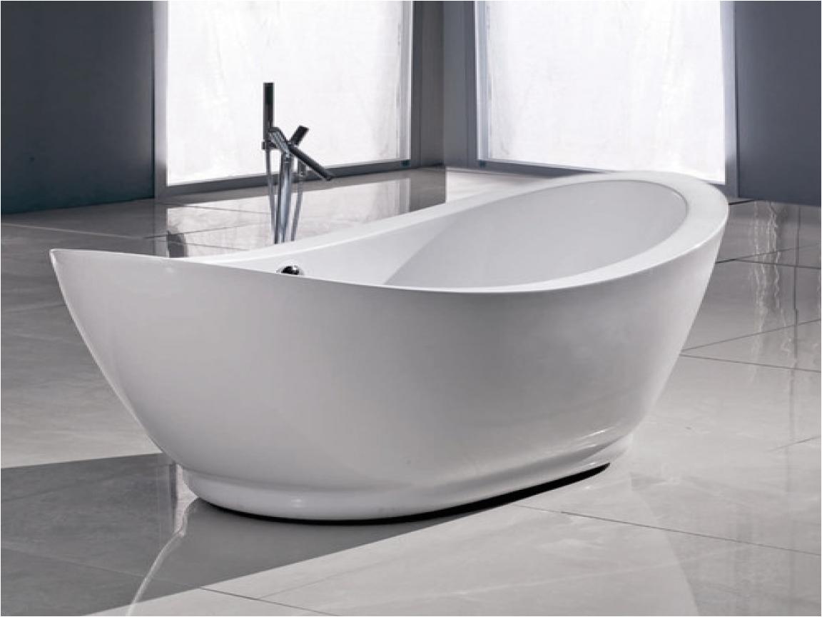 Standalone Bathtub with Jets Freestanding Whirlpool Tub Freestanding Acrylic Slipper