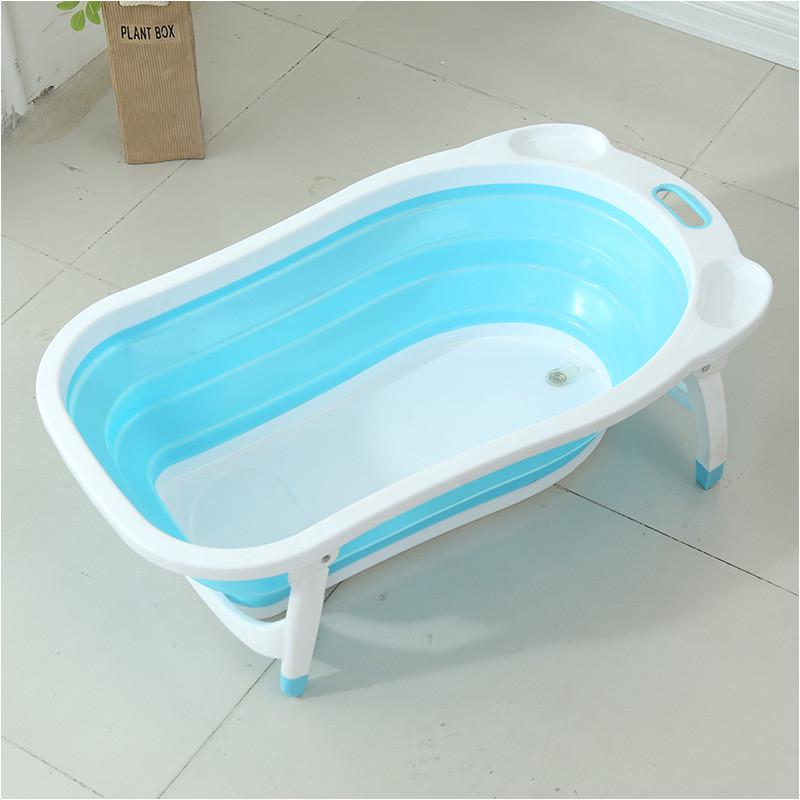 plastic standing baby folding bath tub