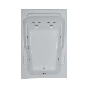 Sterling Acrylic Bathtubs 72 In Acrylic Rectangular Drop In Whirlpool Bathtub In