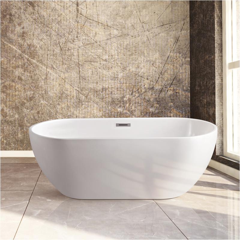 59 streamline n 140 60fswh fm soaking freestanding tub with internal drain