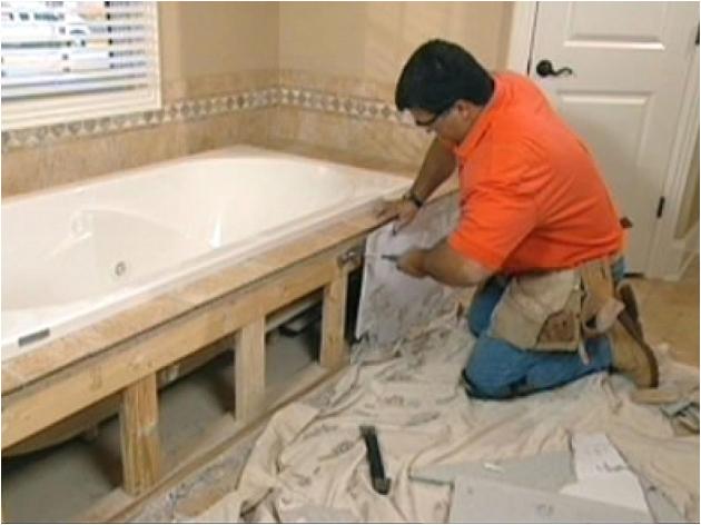 installing a new bathtub
