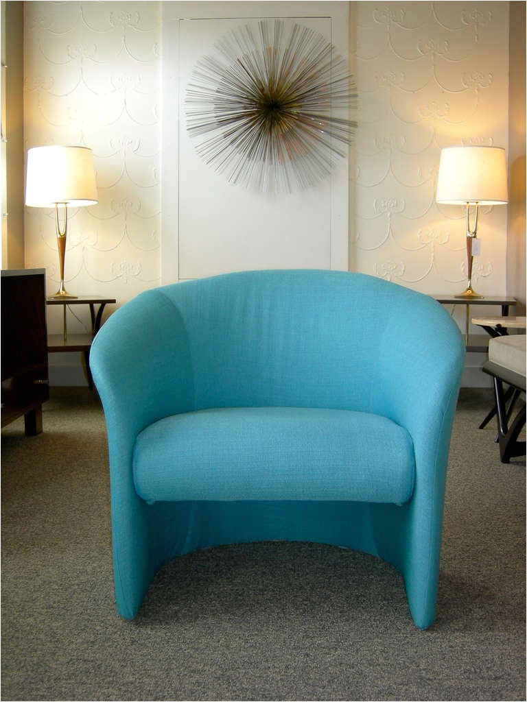 Tiffany Blue Accent Chair Pair Of Tiffany Blue Accent Chairs by Massimo Vignelli at