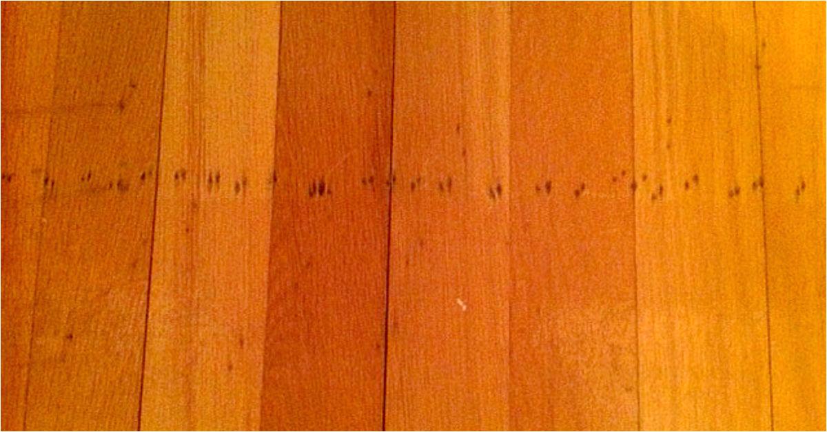 q how to repair nail holes in 55 year old oak flooring