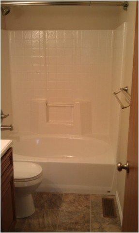 one piece bathtub shower