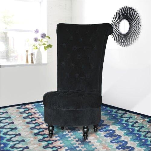 """Tufted High Back Velvet Accent Chair Aosom Hom 45"""" Tufted High Back Upholstered Velvet"""
