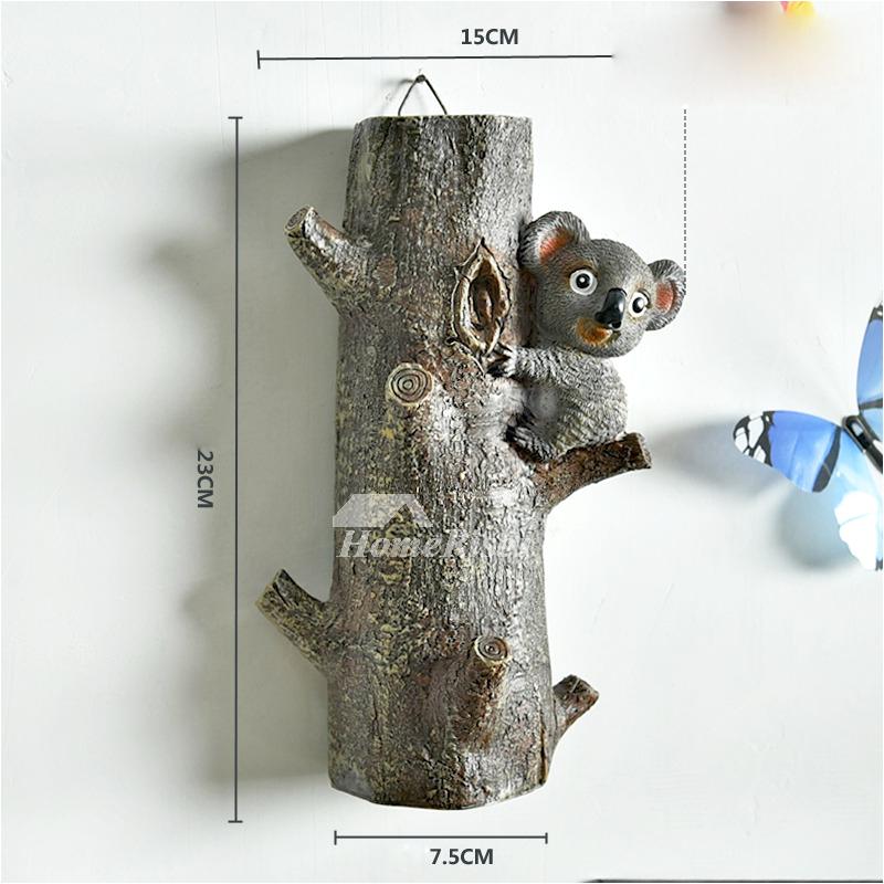 decorative wall hooks for hanging animal modern coat bathroom resin p hois 4789