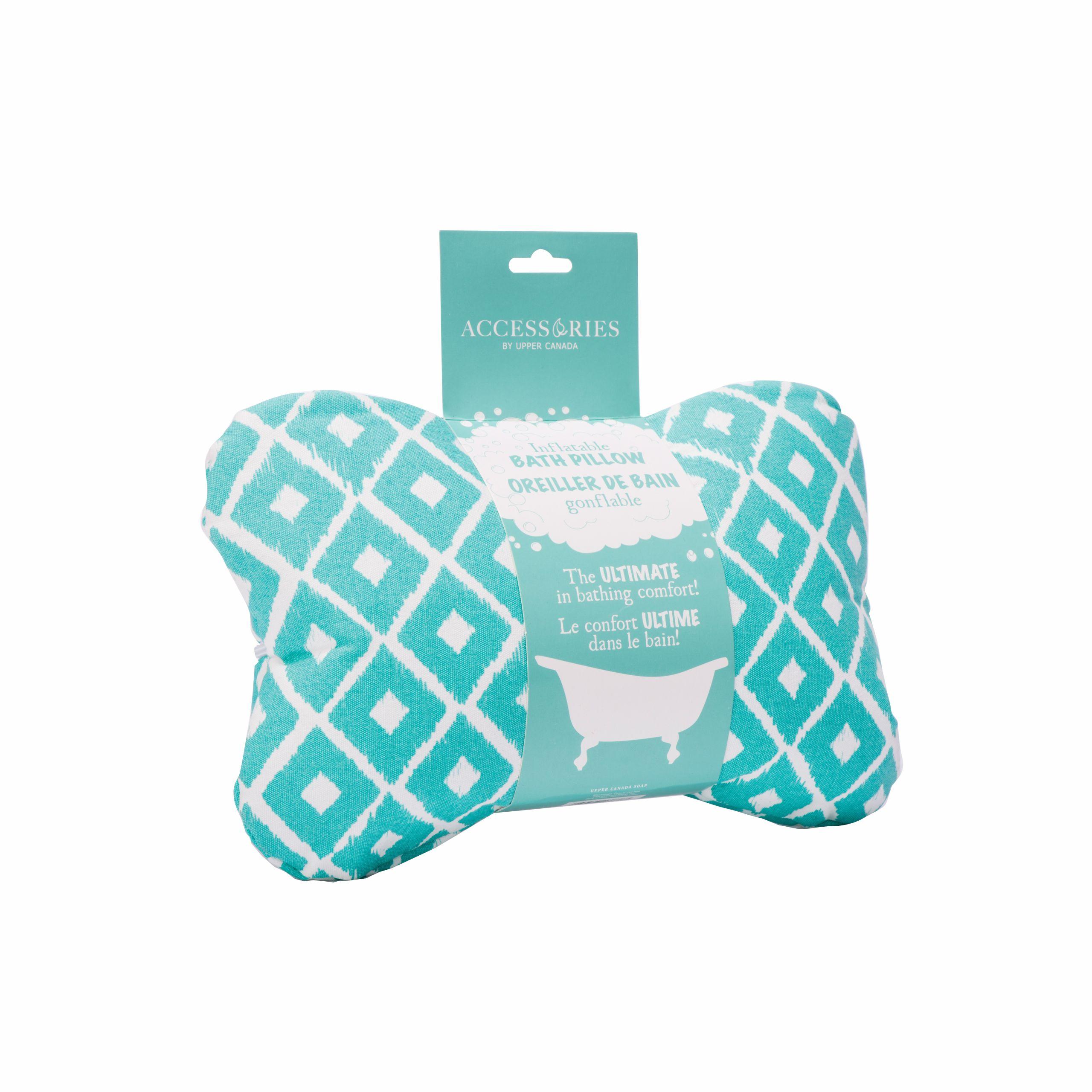 danielle bath accessories inflatable bath pillow blue mosaic