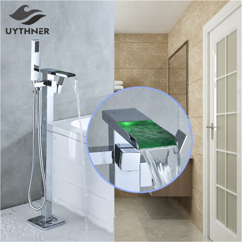 Types Of Bathtub Fixtures Aliexpress Buy Newly Chrome Polished Led Bath Tub