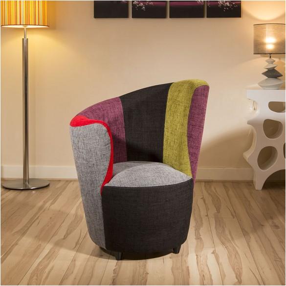 modern curved multi colour fabric armchair armchairs tub chair chairs