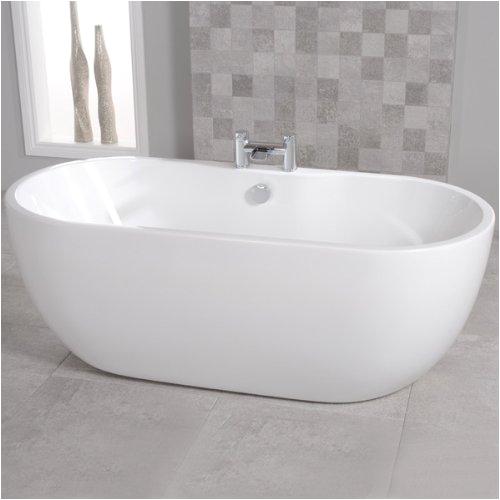 freestanding bath tub acrylic white 1400