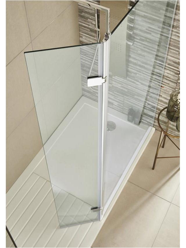 Uk Bathrooms Returns Premier 322 X 1850mm Wetroom Hinged Return Screen