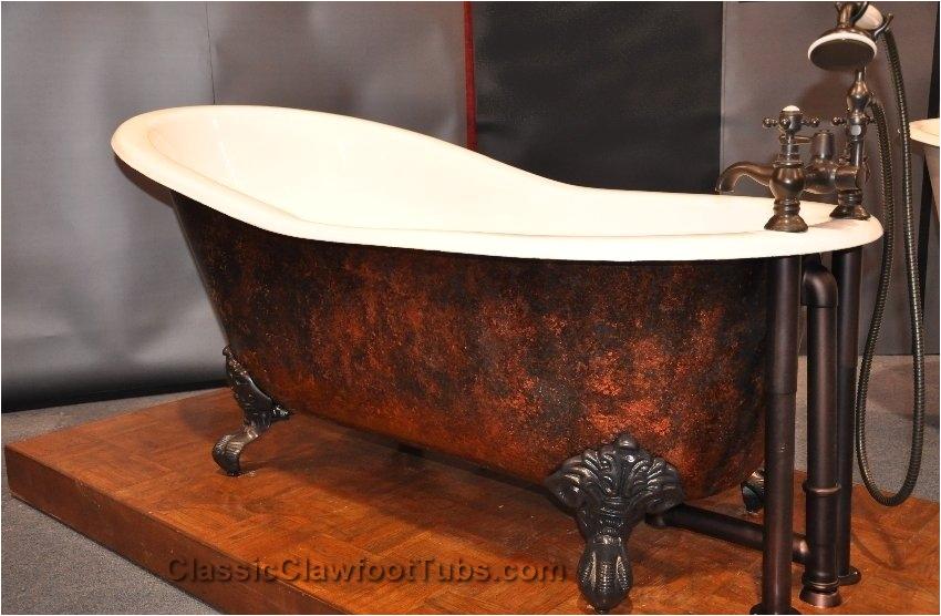 61 cast iron slipper clawfoot tub