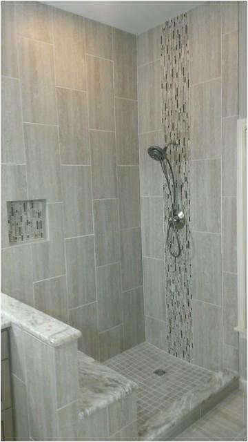 master bathroom plete remodel 12 x 24 vertical tile contemporary bathroom austin
