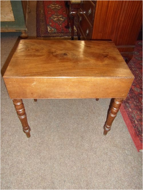 victorian mahogany bidet baby bath stool table