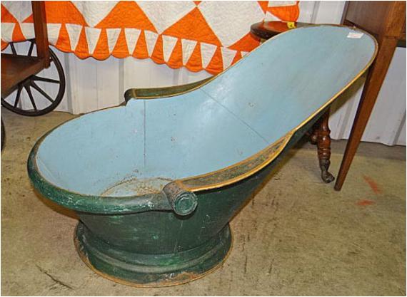 antique french baby bath tub