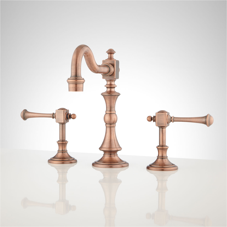 vintage widespread bathroom faucet with lever handles