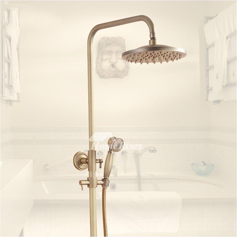 Vintage Bathtub Fixtures Exquisite Wall Mount Antique Brass Gold Shower Fixtures