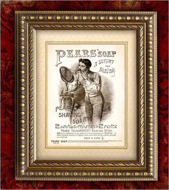 Vintage Bathtub Wall Art Vintage Bathroom Decor Pears soap Ad Vintage Art by