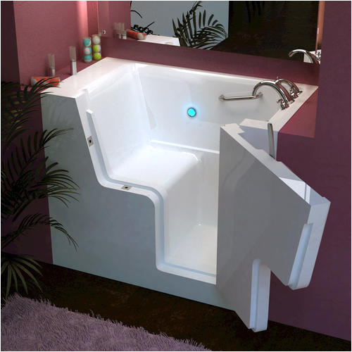 meditub 32quot x38quot left drain white soaker walk in bathtub