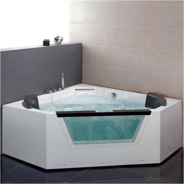 60 x 60 ARIEL AM156JDTSZ CORNER PLATINUM WHIRLPOOL MASSAGE BATH TUB WATERFALL modern bathtubs other metro