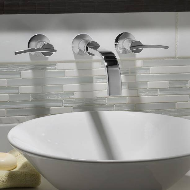 berwick wall mounted widespread bathroom faucet with lever handles