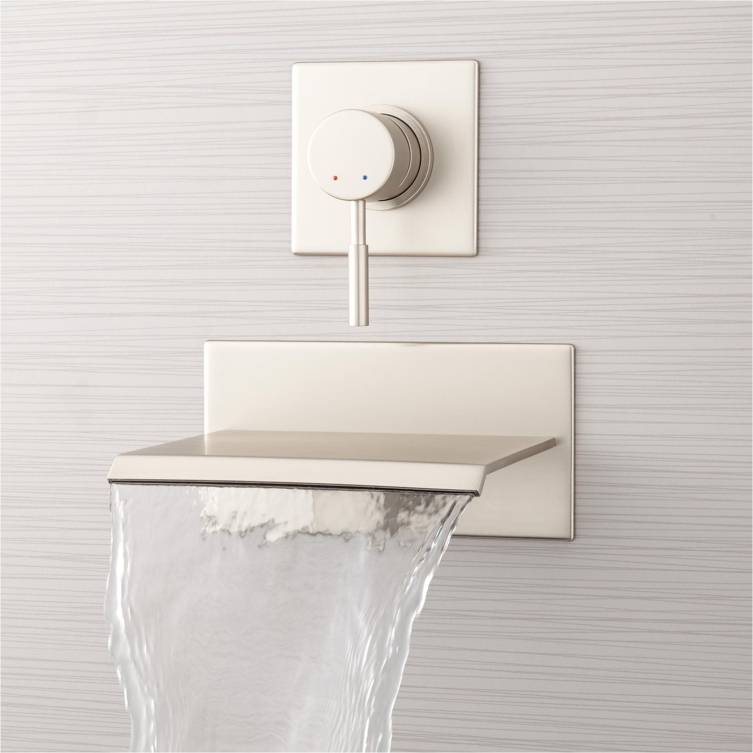 lavelle wall mount tub faucet with waterfall spout