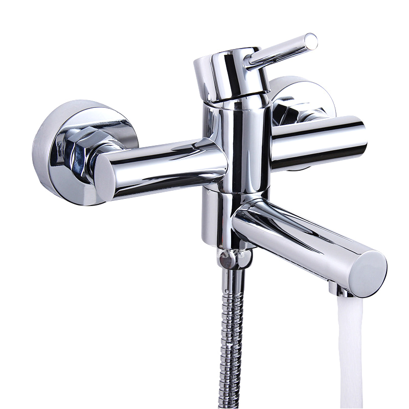 wall mount tub faucet water efficient silver two holes 1 handle chrome p hois2374 1139