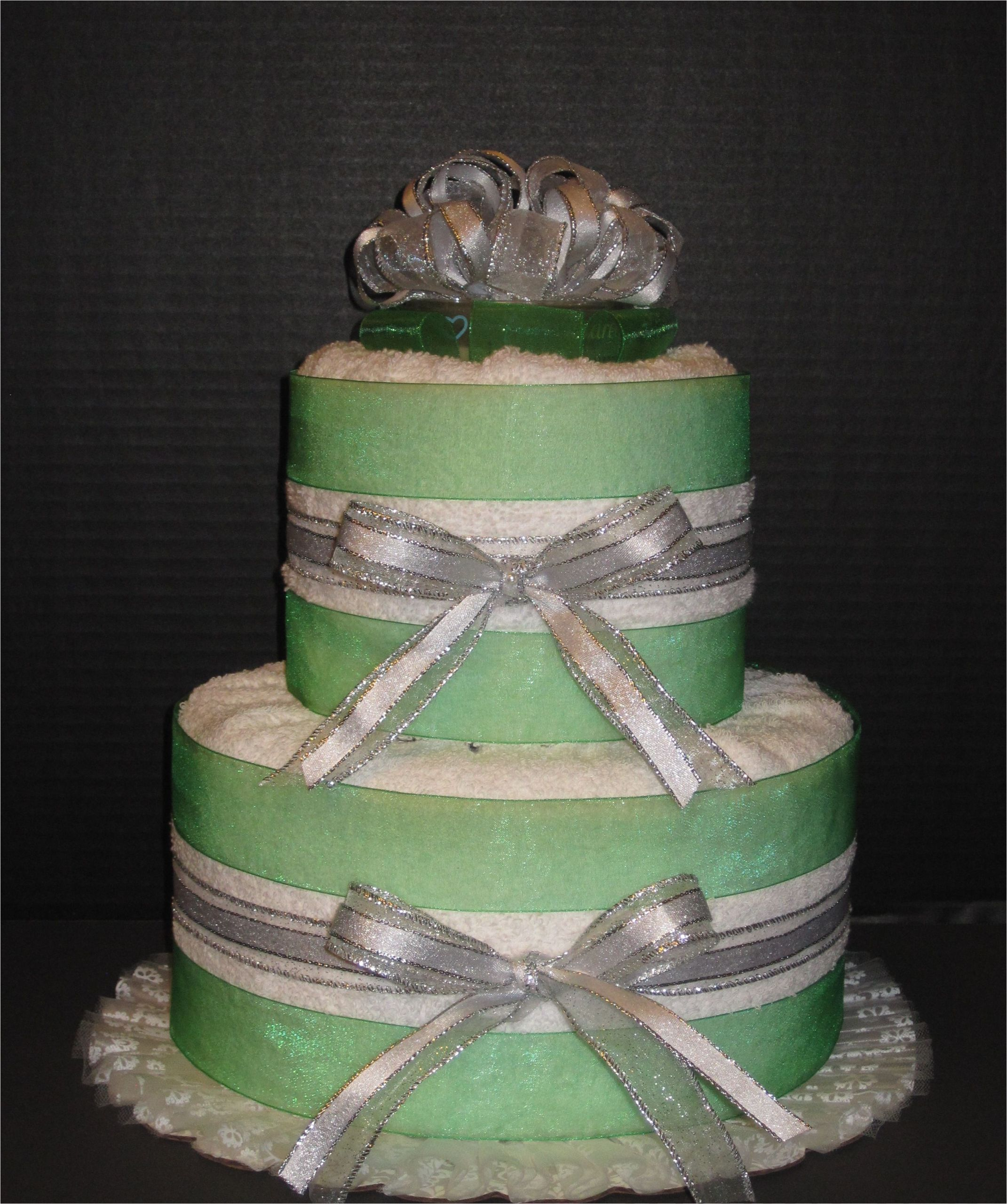 What are Bathtubs Made Out Of 2 Layer towel Cake for Bridal Shower Made Out Of Bath