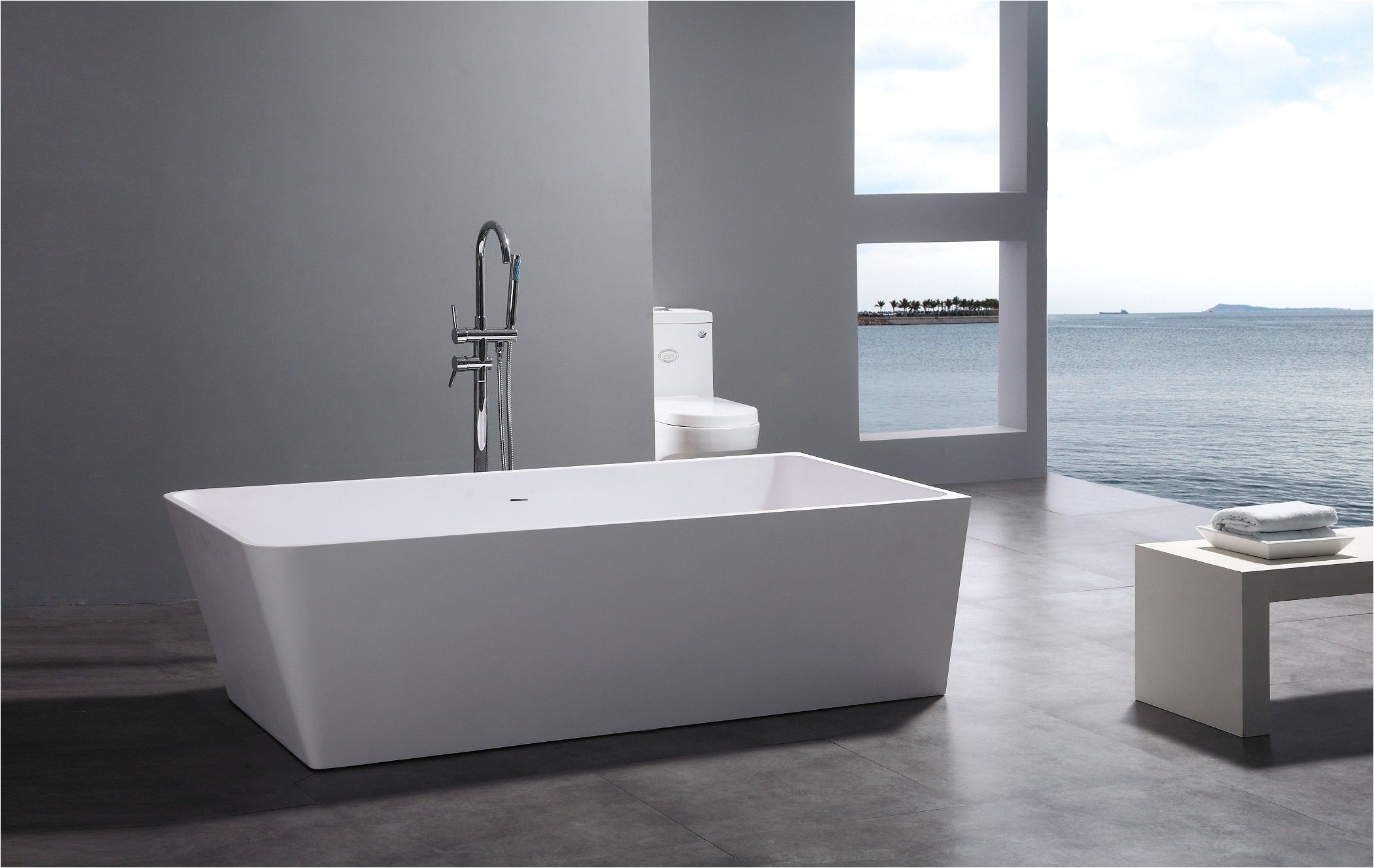 What are Modern Bathtubs Made Of Leona Freestanding soaking Tub 71 for the Home