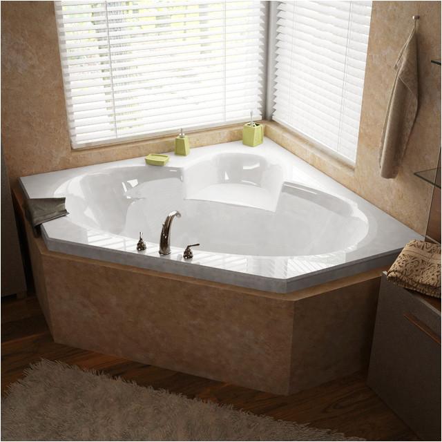 Venzi Ambra 60 x 60 Corner Soaking Bathtub modern bathtubs