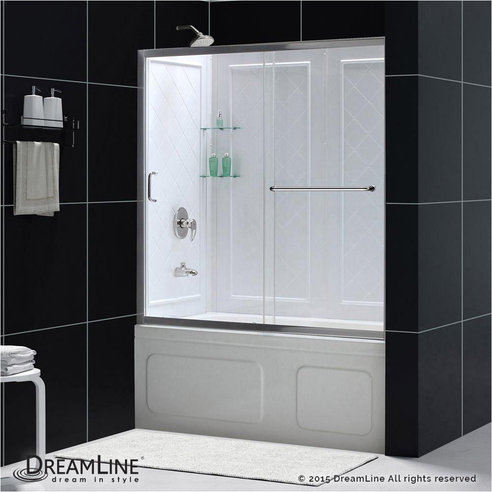 When Bathtubs Doors Infinity Z Sliding Tub Door & Backwalls
