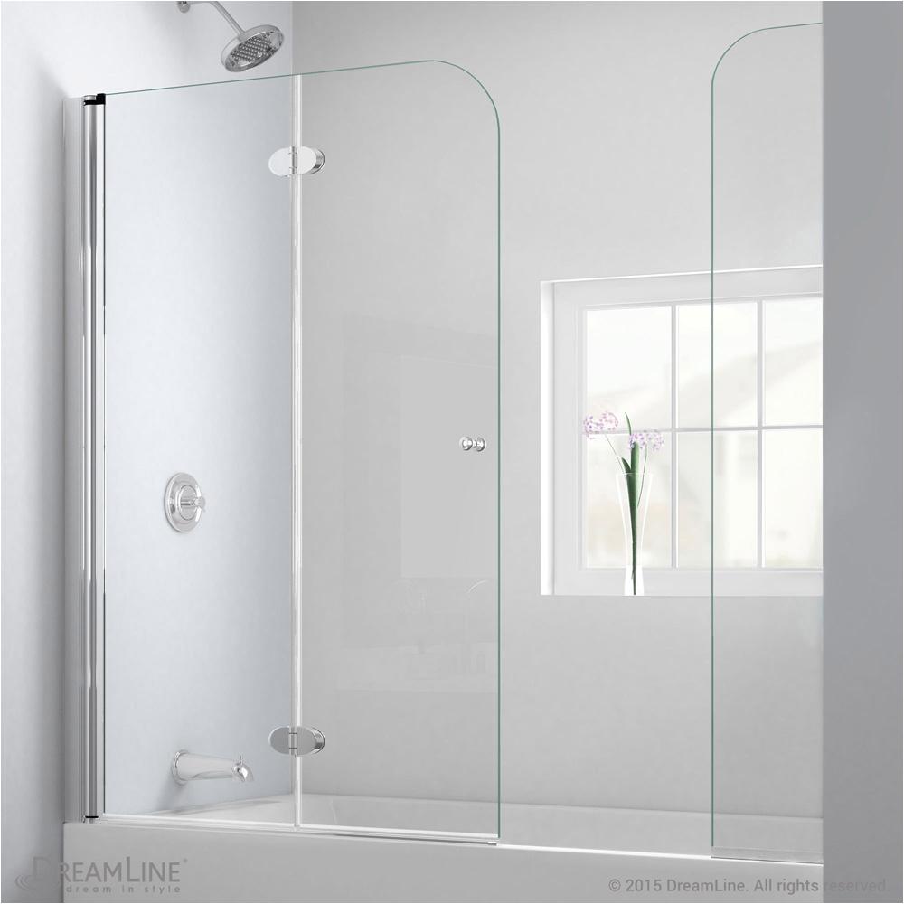 "Where Bathtubs Doors Bath Authority Dreamline Aquafold Hinged Tub Door 56"" 60"