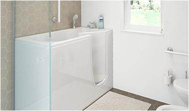 bath tubs with door